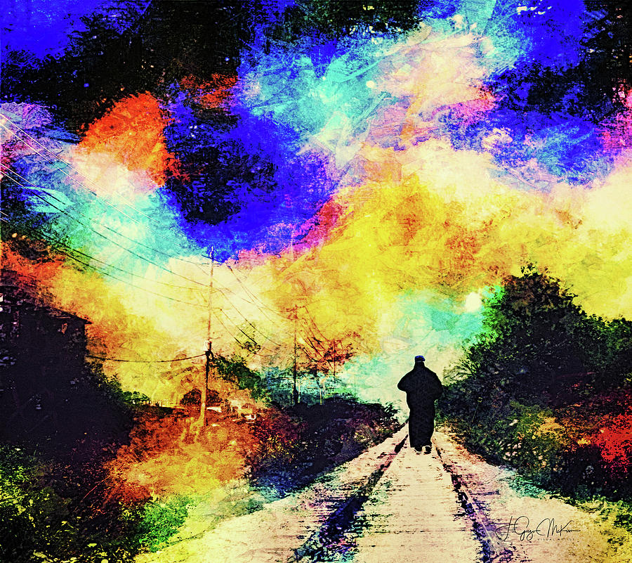 Kingston Digital Art - Long Twin Silver Lines by Jo-Anne Gazo-McKim