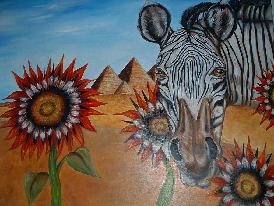 Zebra Painting - Long Walk by Andrea  Darlington