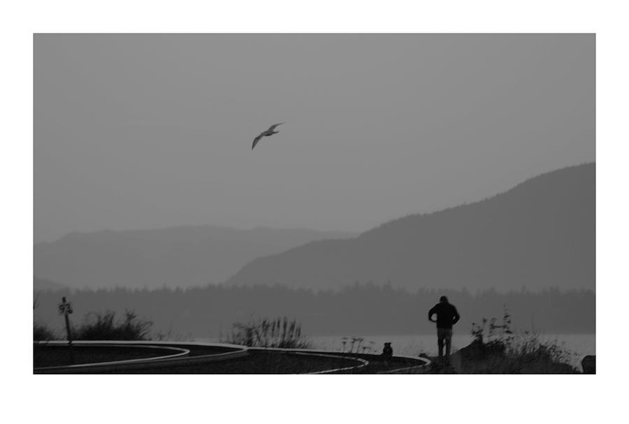 Black Photograph - Long Walk by J D Banks