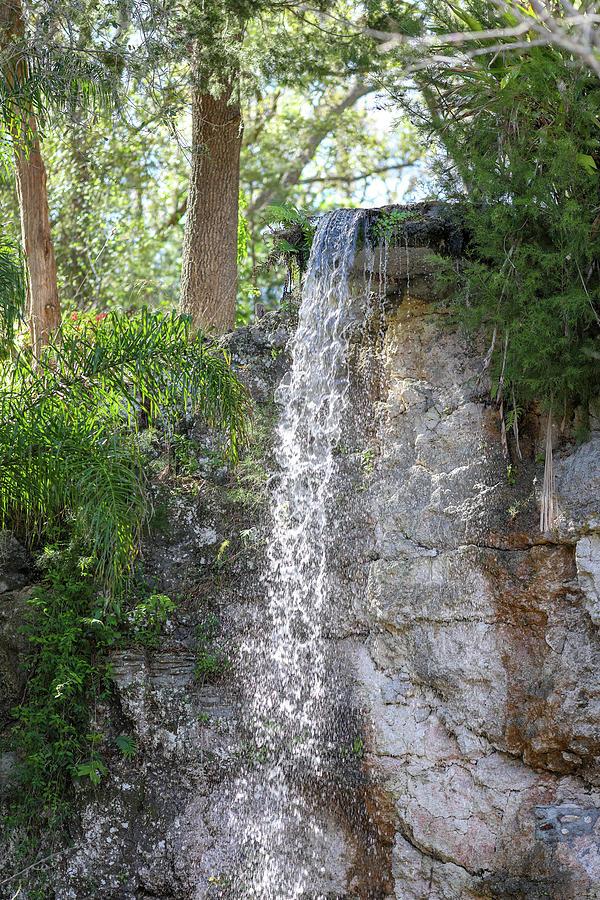 Long Photograph - Long Waterfall Drop by Raphael Lopez