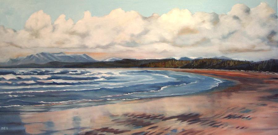 Beach Painting - Longbeach 4 by Jean Ives