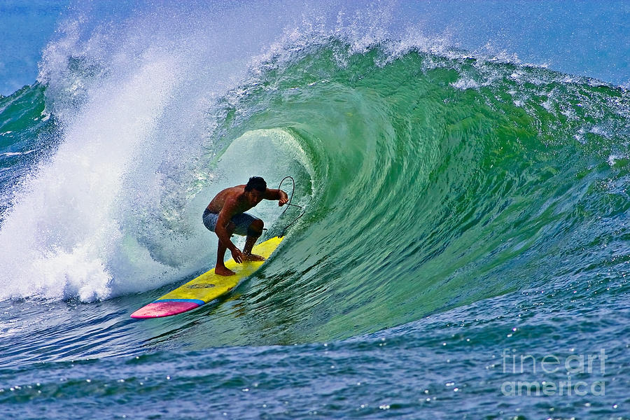 Bowls Photograph - Longboarder In The Tube by Paul Topp