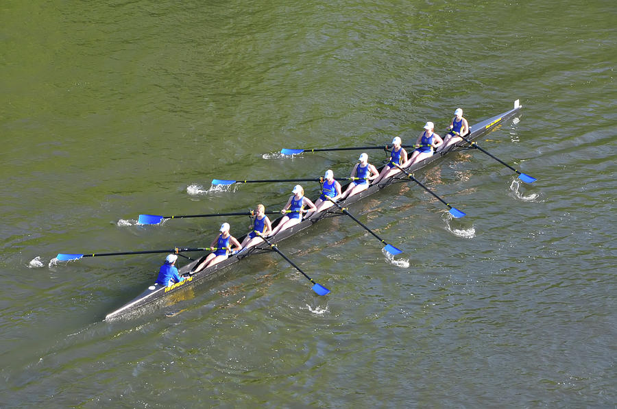 Bill Photograph - Longboat - Rowing On The Schuylkill River by Bill Cannon