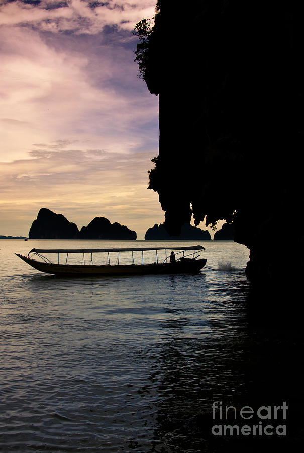 Asia Photograph - Longboat Sunset by Jorgo Photography - Wall Art Gallery