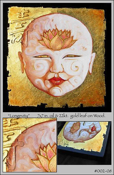 Buddah Painting - Longevity  by Troy Carney