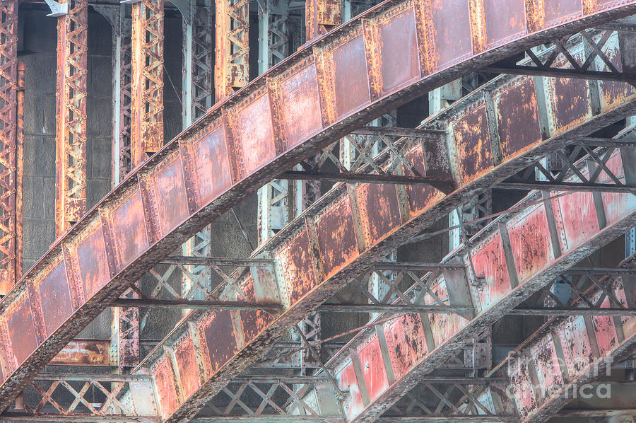 Arch Photograph - Longfellow Bridge Arches I by Clarence Holmes