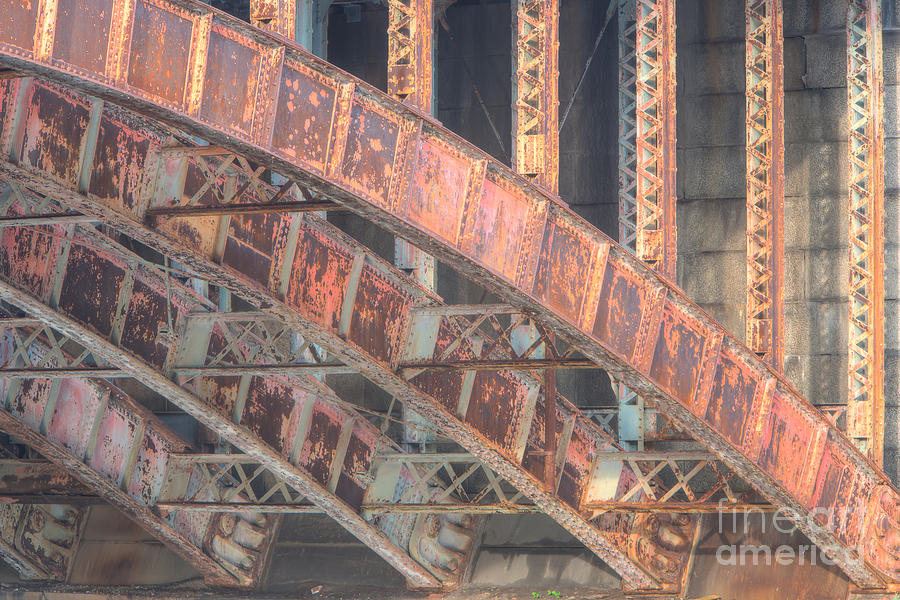 Arch Photograph - Longfellow Bridge Arches IIi by Clarence Holmes