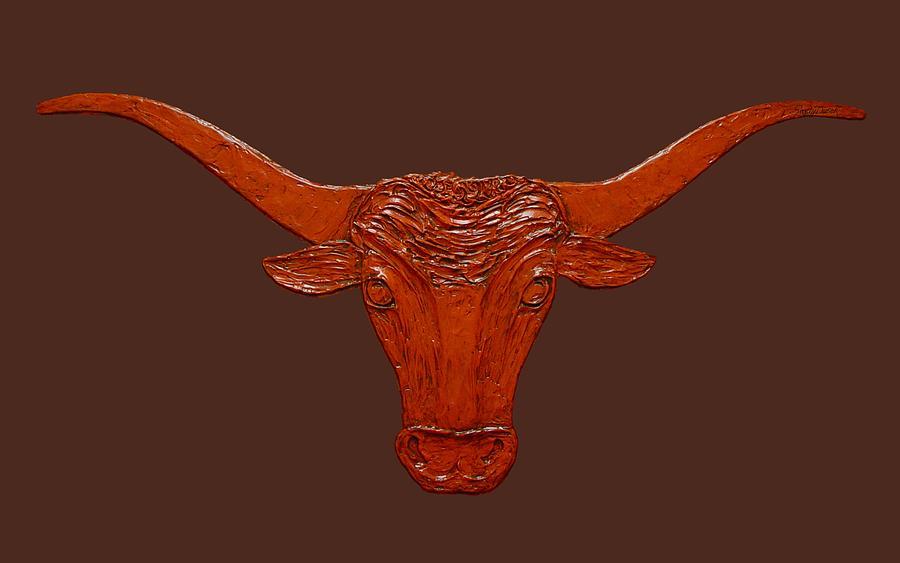 Longhorn Cow Painting - Longhorn 2 by Sandy Dusek