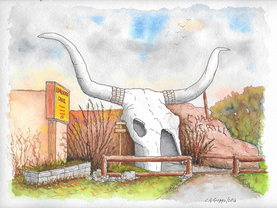 Longhorn Grill and Restaurant, Amado, Arizona by Carlos G Groppa