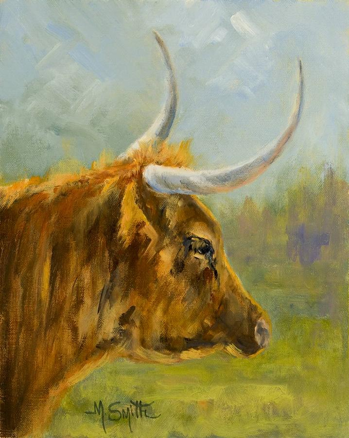 Longhorn Painting - Longhorn Lady by Marla Smith