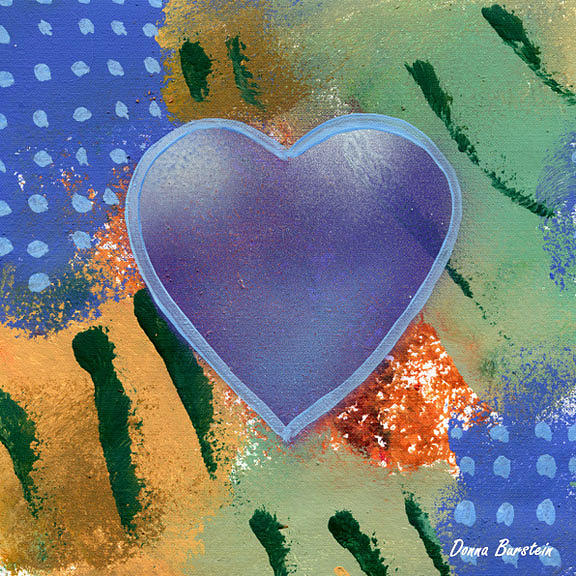 Heart Painting - Longing Heart by Donna Burstein