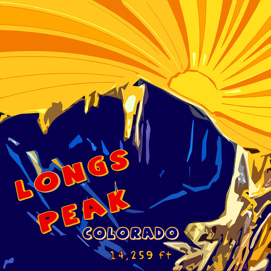Longs Peak Digital Art - Longs Peak by David G Paul