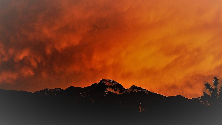 Longs Peak Sunset by Tranquil Light Photography