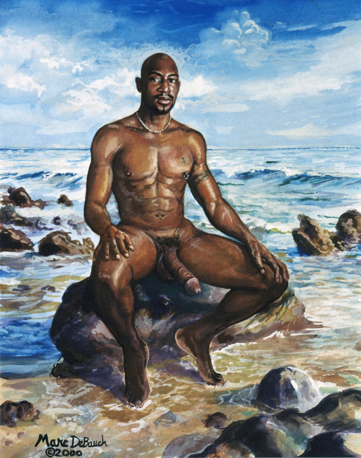 from Gibson beach gay male nude painting sculpture