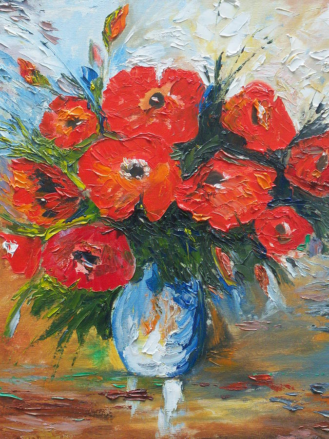 Poppies Painting - Look At Me  by Conor Murphy