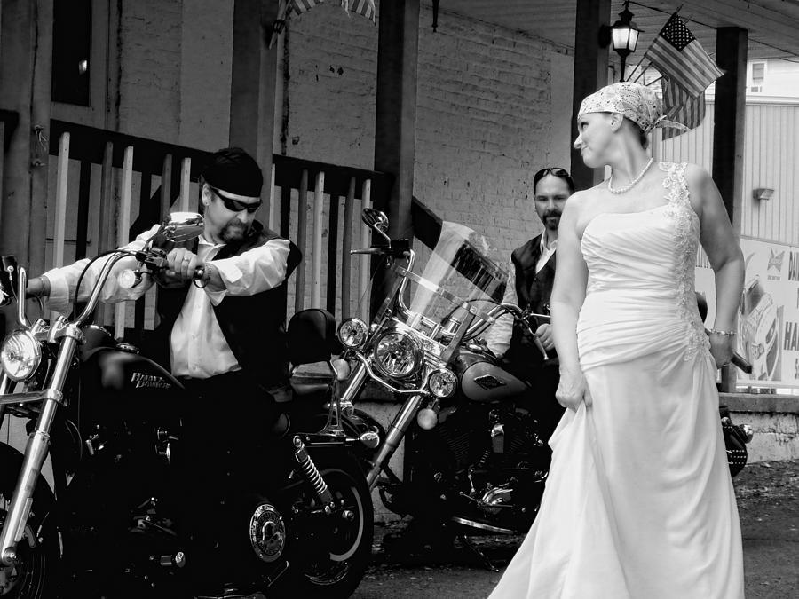 Motorcycles Photograph - Look At My Dress by Sara Young
