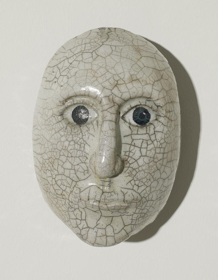 Mask Ceramic Art - Look Into My Eyes by Jason Galles