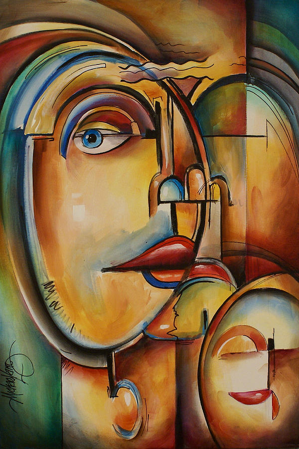Look Painting by Michael Lang