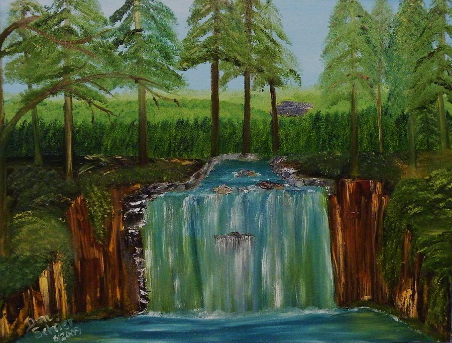 Landscape Painting - Look What I Found In The Woods by Donald Schrier