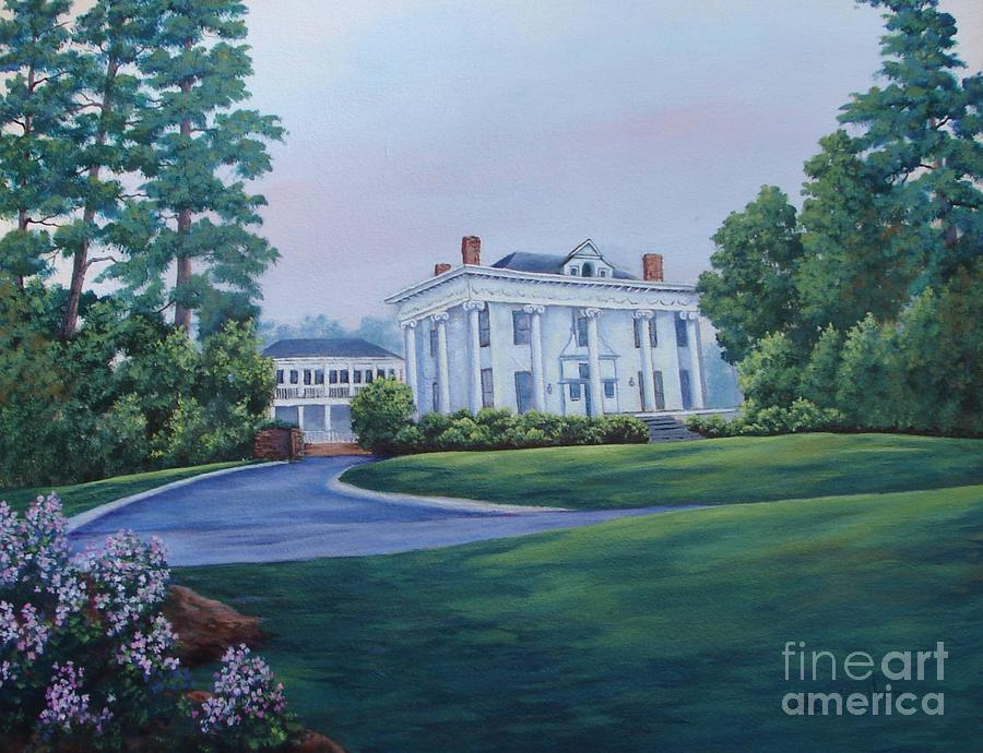 Historical Home Painting - Lookaway Hall by Jerry Walker