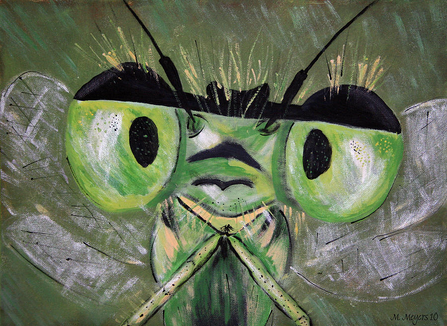 Dragonfly Painting - Lookin At You by Melisa Meyers