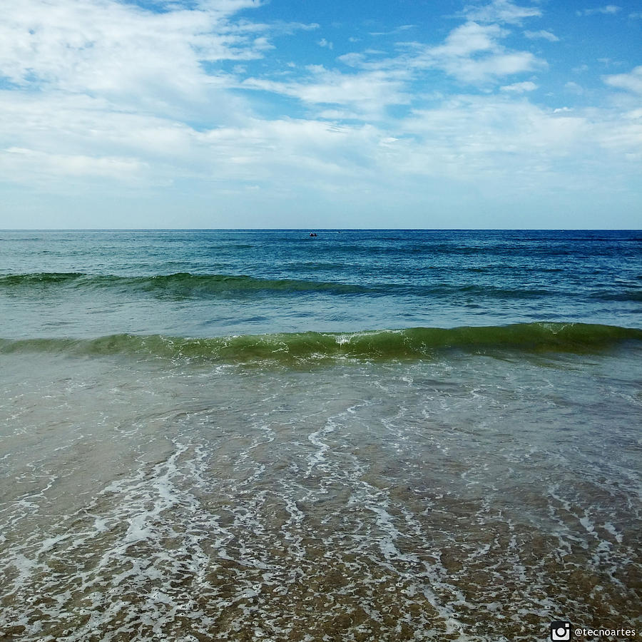 Beach Photograph - Looking at the shore by Miguel Angel