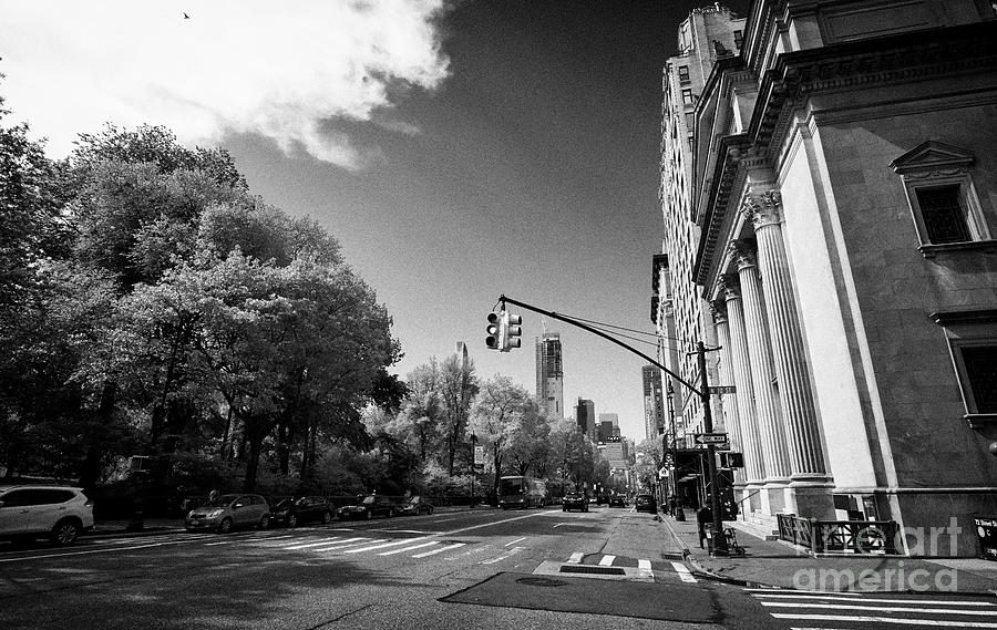 Congregation Photograph - looking down central park west from Congregation Shearith Israel spanish and portuguese synagogue up by Joe Fox