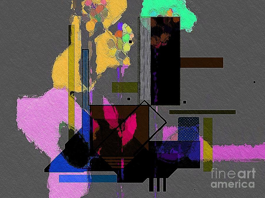Abstract Digital Art - Looking Down by Cooky Goldblatt