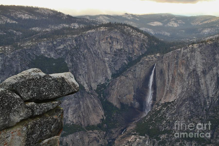 Yosemite National Park Photograph - Looking Down From A Cloud by Tony Lee
