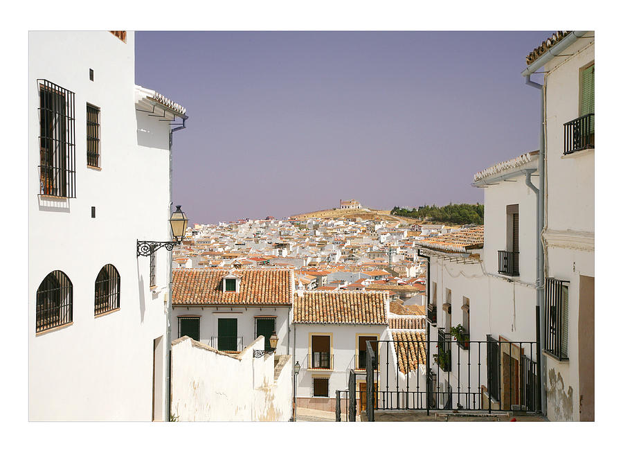 Antequera Photograph - Looking Down Over Antequera  From Near The Church Of Santa Maria La Mayor  by Mal Bray