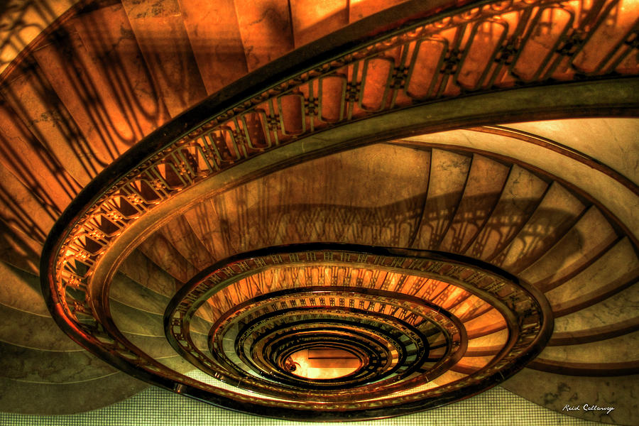 Perfect Luxury Photograph   Looking Down The Ponce Spiral Staircase Atlanta Georgia  Art By Reid Callaway