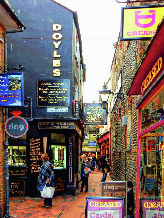 Looking For A Sign In The Lanes Brighton by Dorothy Berry-Lound