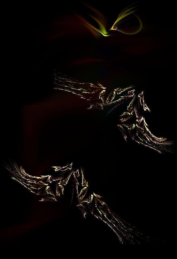 Fantasy Digital Art - Looking For Faraway by David Lane