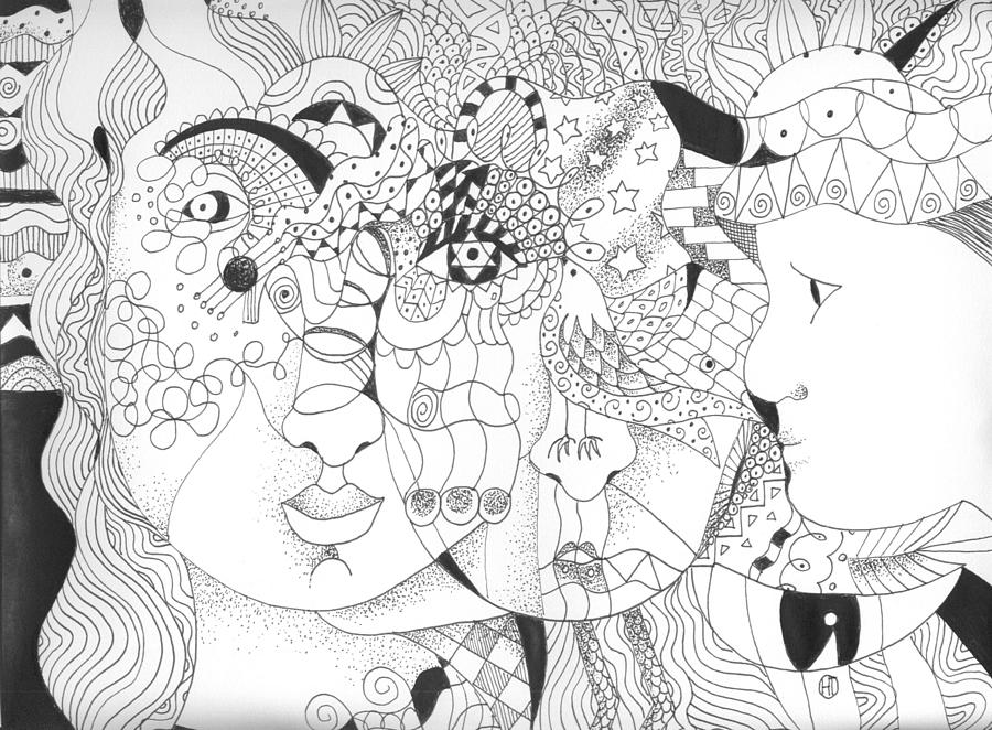 Kindness Drawing - Looking For Kindness by Helena Tiainen