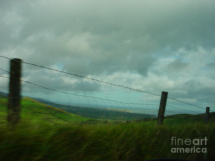 Fence Photograph - Looking For Tralee by PJ  Cloud