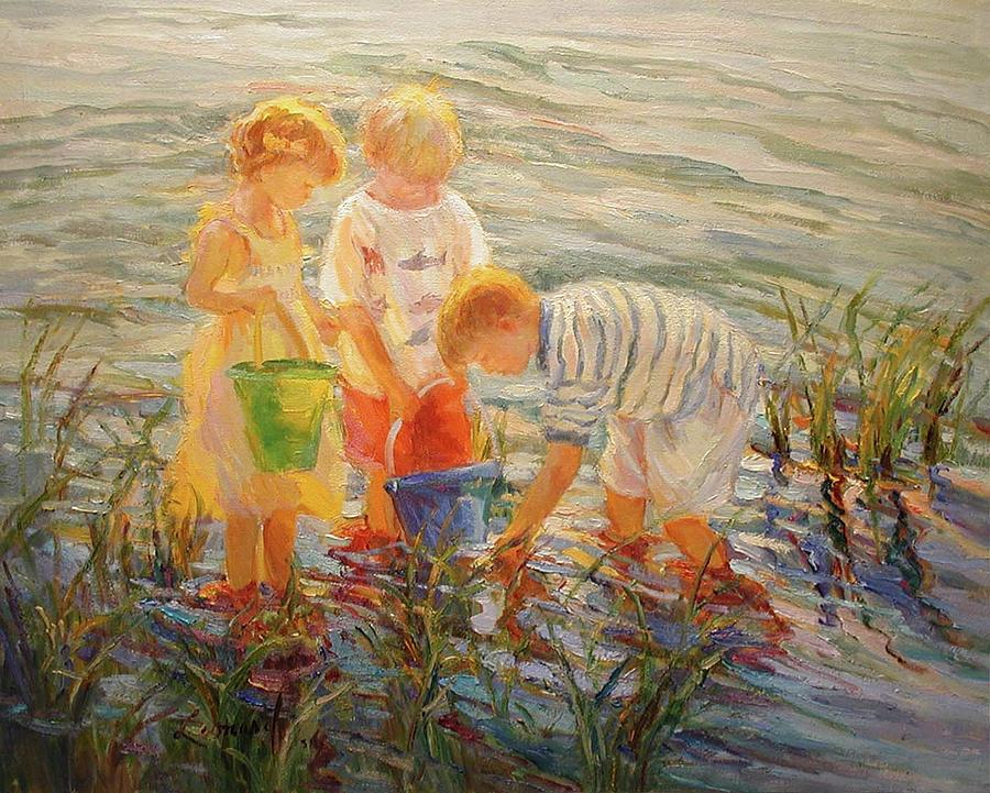 Looking For Treasures Painting