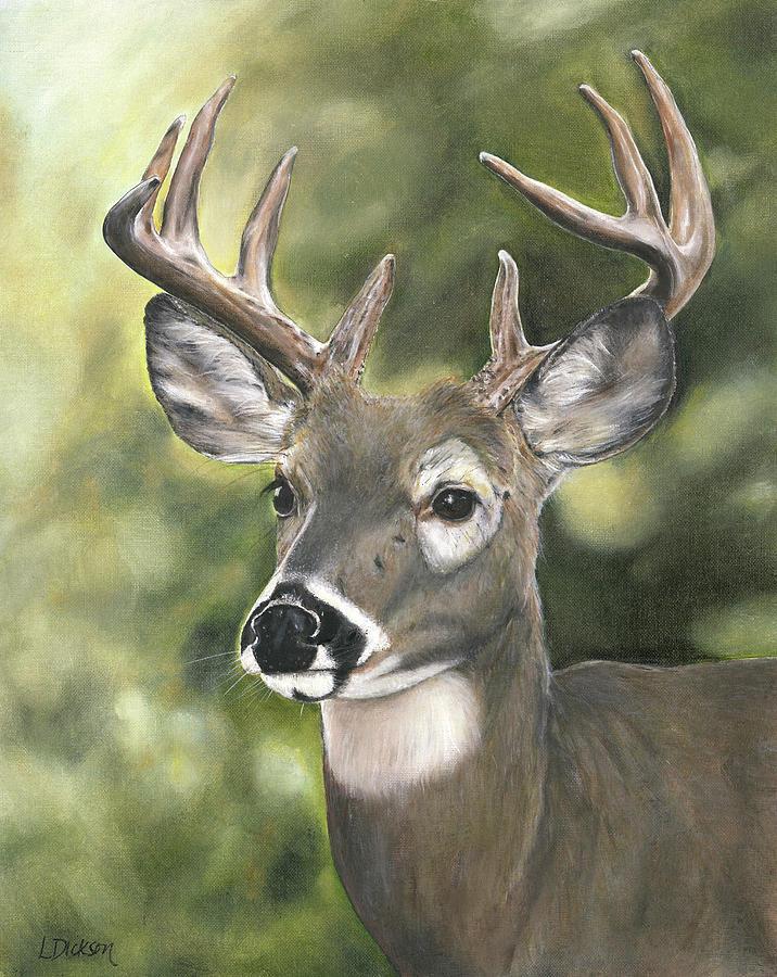 Deer Painting - Looking Forward by Lisa Dickson
