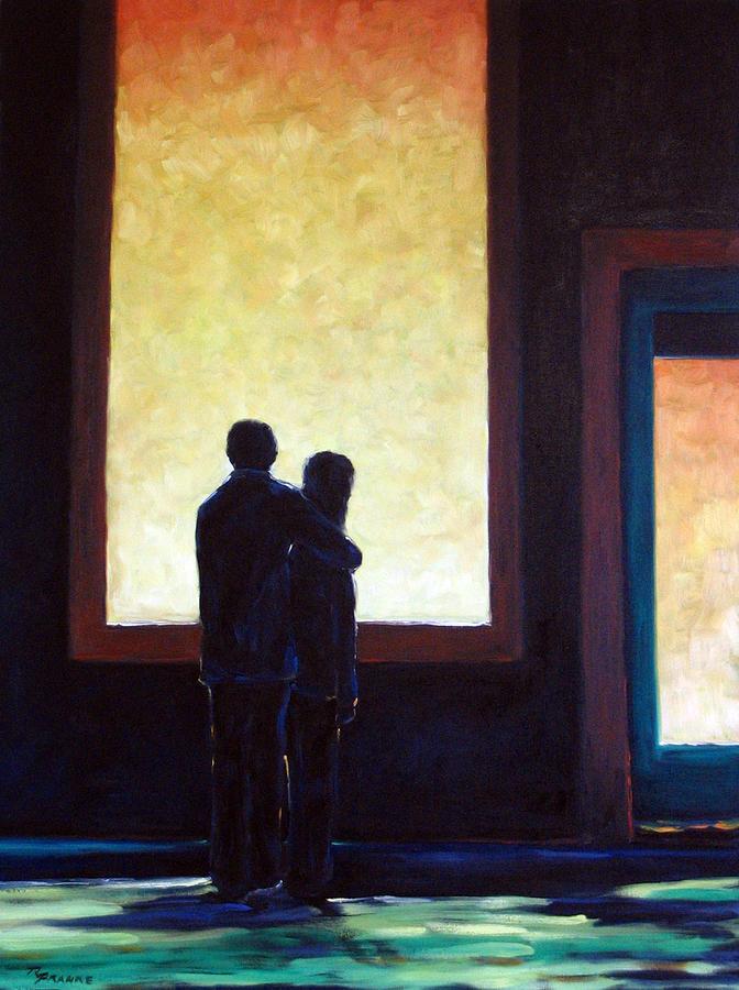 Pranke Painting - Looking In Looking Out by Richard T Pranke