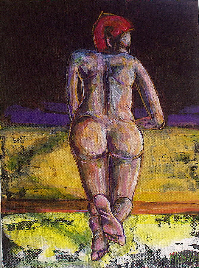 Nude Painting - Looking Into Darkness by Michael Hudak