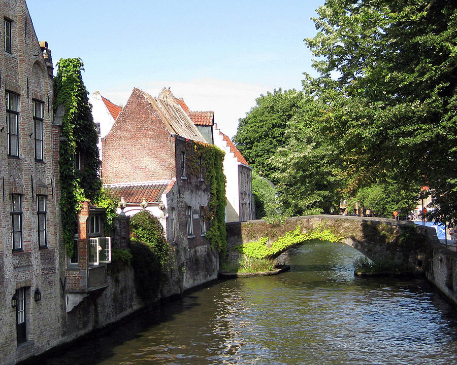 Bruges Photograph - Looking Out On The Canal by David L Griffin