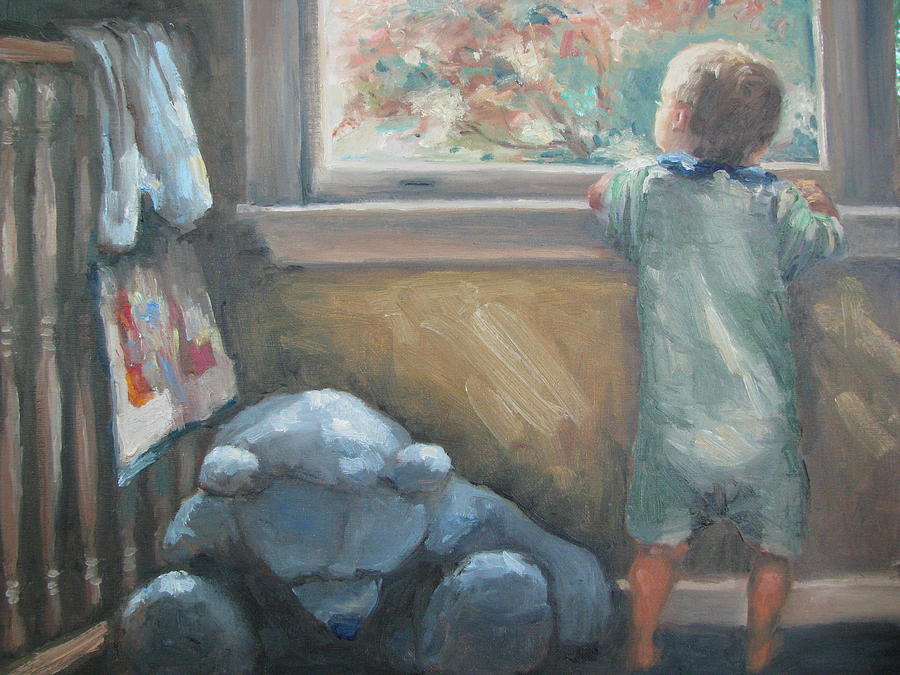 Baby Painting - Looking Out the Window by Sharon Franke