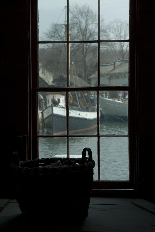 Mystic Photograph - Looking Out Through A Window At Wooden by Todd Gipstein