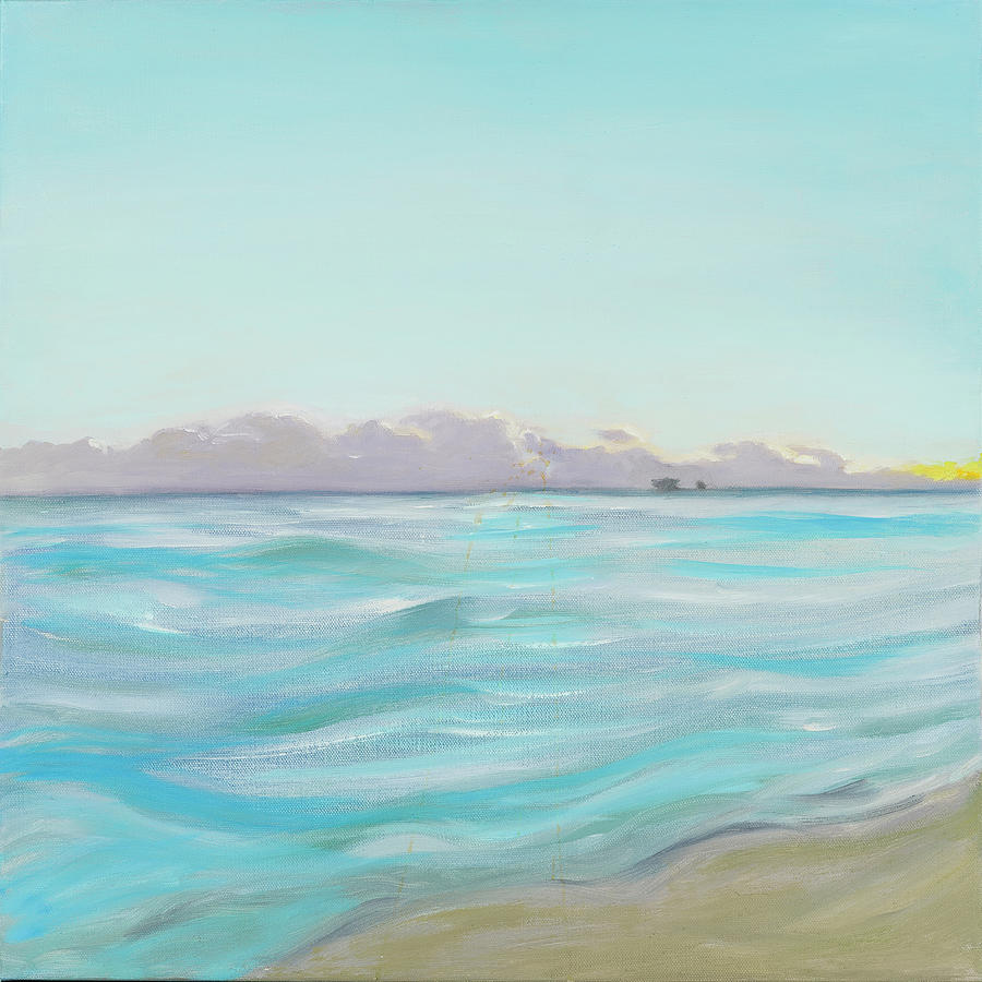 Looking South tryptic part 2 - SOLD by Laura Lee Cundiff