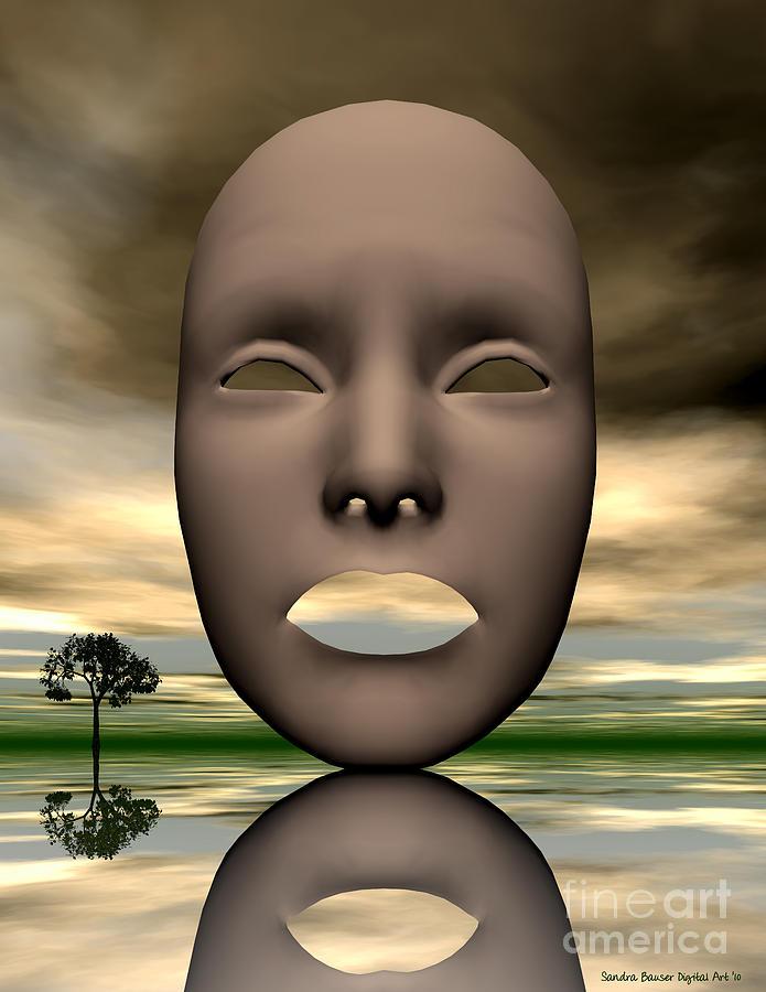 Bryce Digital Art - Looking Through by Sandra Bauser Digital Art