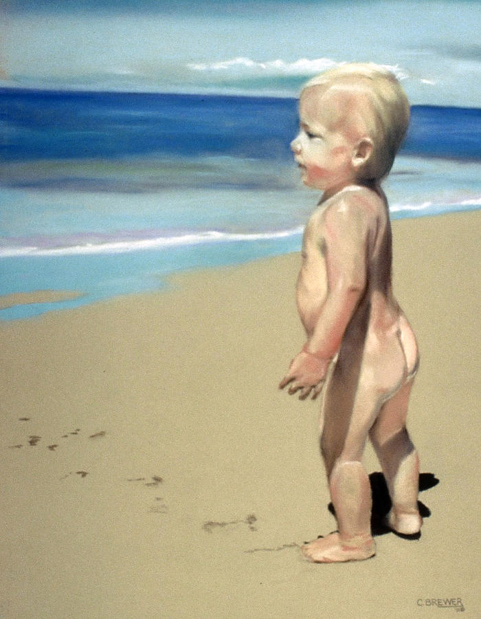 Baby Painting - Looking To The Future by Cyndi Brewer