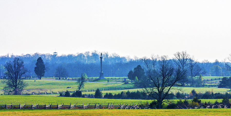 Looking Towards Hancock Avenue Gettysburg Battlefield Photograph by William Rogers