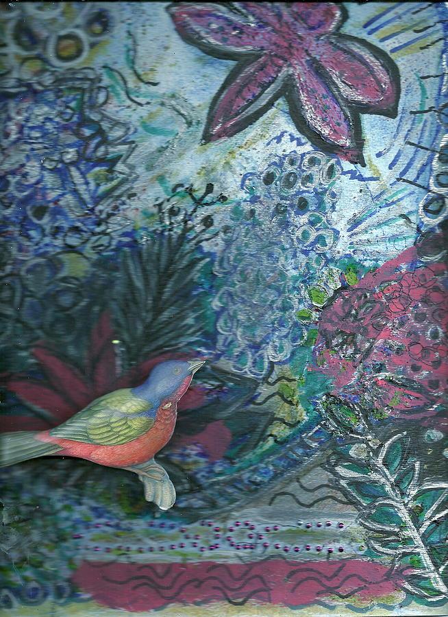 Bird Mixed Media - Looking Up by Anne-Elizabeth Whiteway