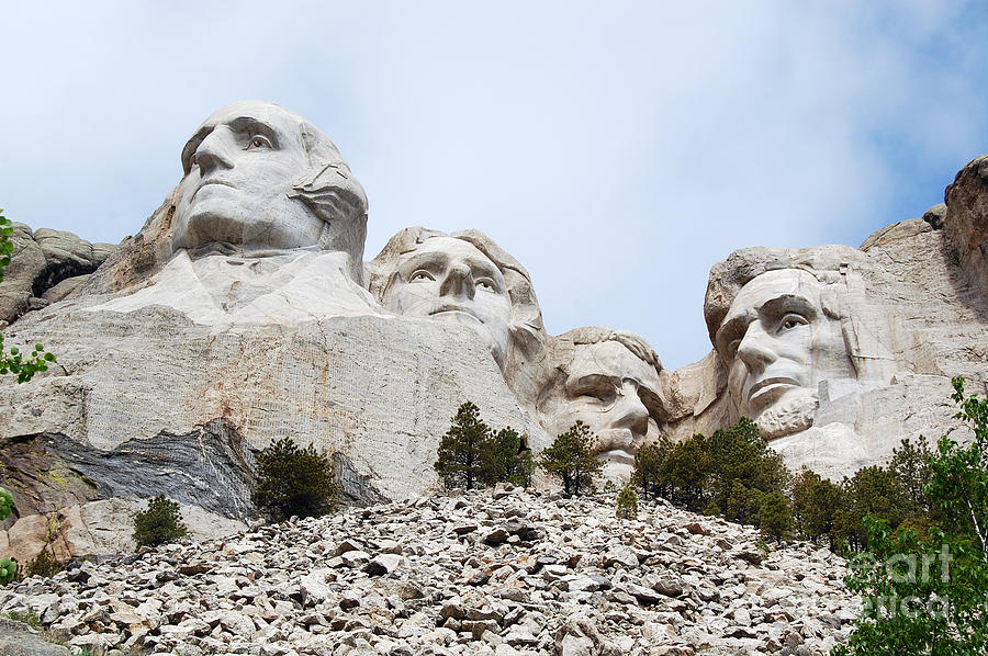 South Dakota Photograph - Looking Up At Mount Rushmore National Monument South Dakota by Shawn OBrien