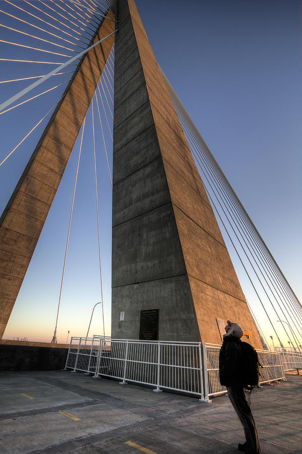 Cooper River Bridge Photograph - Looking Up Cooper River Bridge by Dustin K Ryan