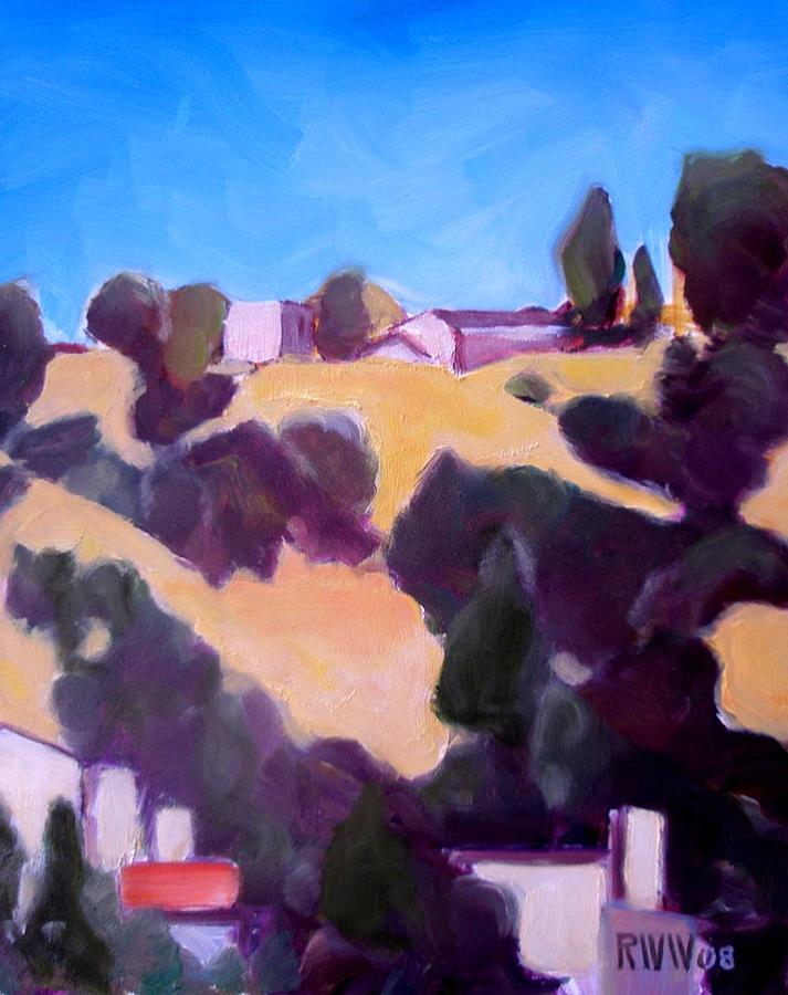 Plein Air Painting - Looking Up From Talyor Yards by Richard  Willson